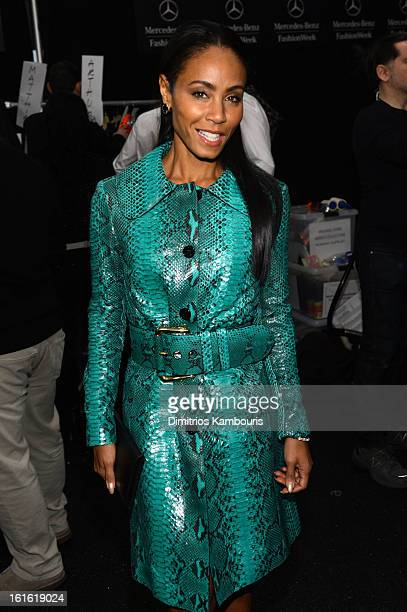 Actress Jada Pinkett Smith attends the Michael Kors Fall 2013 fashion show during MercedesBenz Fashion Week at The Theatre at Lincoln Center on...