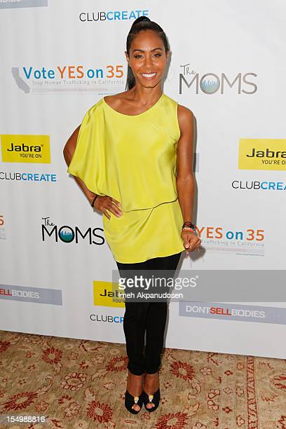 Actress Jada Pinkett Smith attends The Moms Afternoon Tea Conversation About How To Stop Human Trafficking at Soho House on October 29 2012 in West...