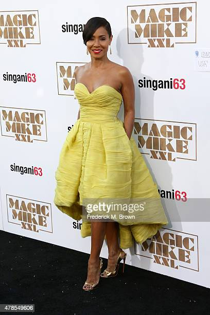 Actress Jada Pinkett Smith attends the premiere of Warner Bros Pictures' 'Magic Mike XXL' at TCL Chinese Theatre IMAX on June 25 2015 in Hollywood...
