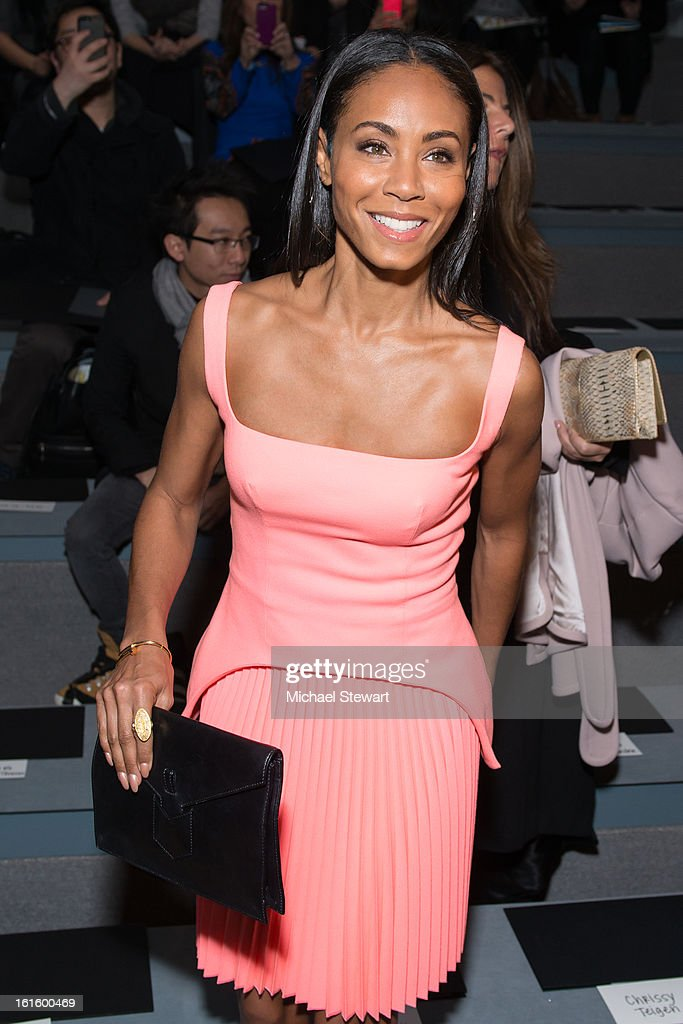 Actress Jada Pinkett Smith attends Vera Wang during fall 2013 Mercedes-Benz Fashion Week at The Stage at Lincoln Center on February 12, 2013 in New York City.