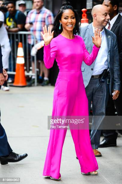 Actress Jada Pinkett Smith enters the 'Good Morning America' taping at the ABC Times Square Studios on July 20 2017 in New York City