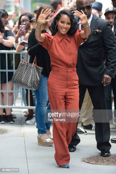 Actress Jada Pinkett Smith leaves the 'AOL Build' taping at the AOL Studios on July 17 2017 in New York City