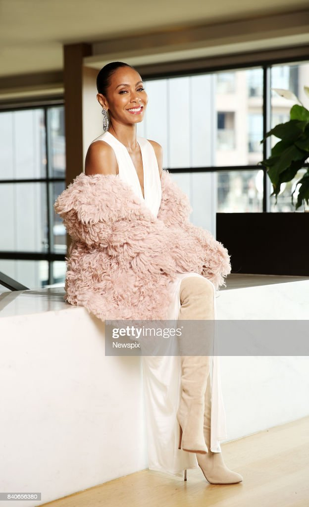 SYDNEY, NSW - (EUROPE AND AUSTRALASIA OUT) Actress Jada Pinkett Smith poses during a photo shoot in Sydney, New South Wales.