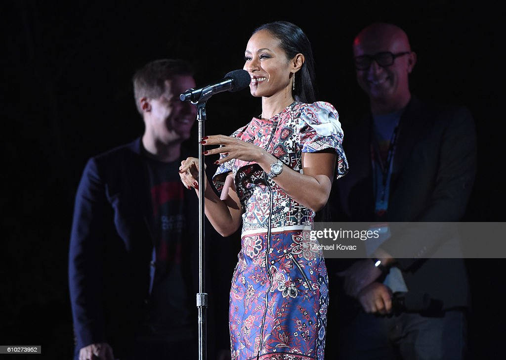 Actress Jada Pinkett Smith presents onstage at the 2016 Global Citizen Festival in Central Park To End Extreme Poverty By 2030 at Central Park on September 24, 2016 in New York City.