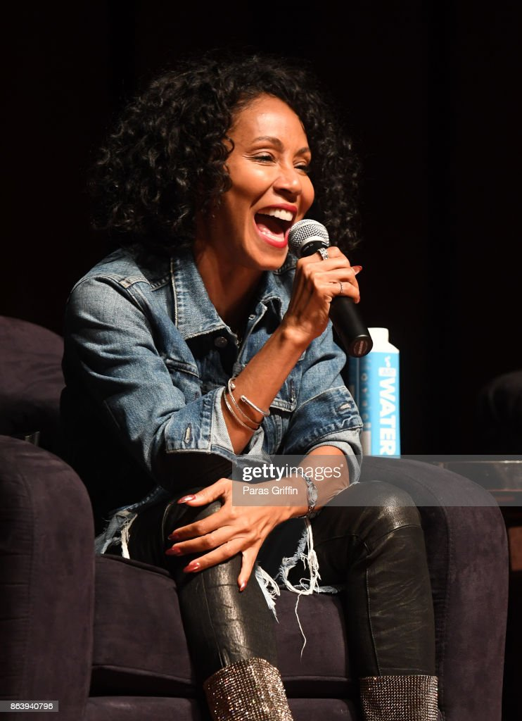 Actress Jada Pinkett Smith speaks onstage at Careers In Entertainment Tour - Atlanta at Morehouse College on October 20, 2017 in Atlanta, Georgia.