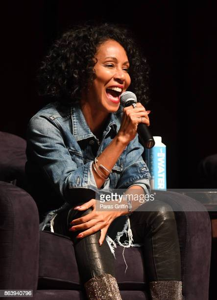 Actress Jada Pinkett Smith speaks onstage at Careers In Entertainment Tour Atlanta at Morehouse College on October 20 2017 in Atlanta Georgia