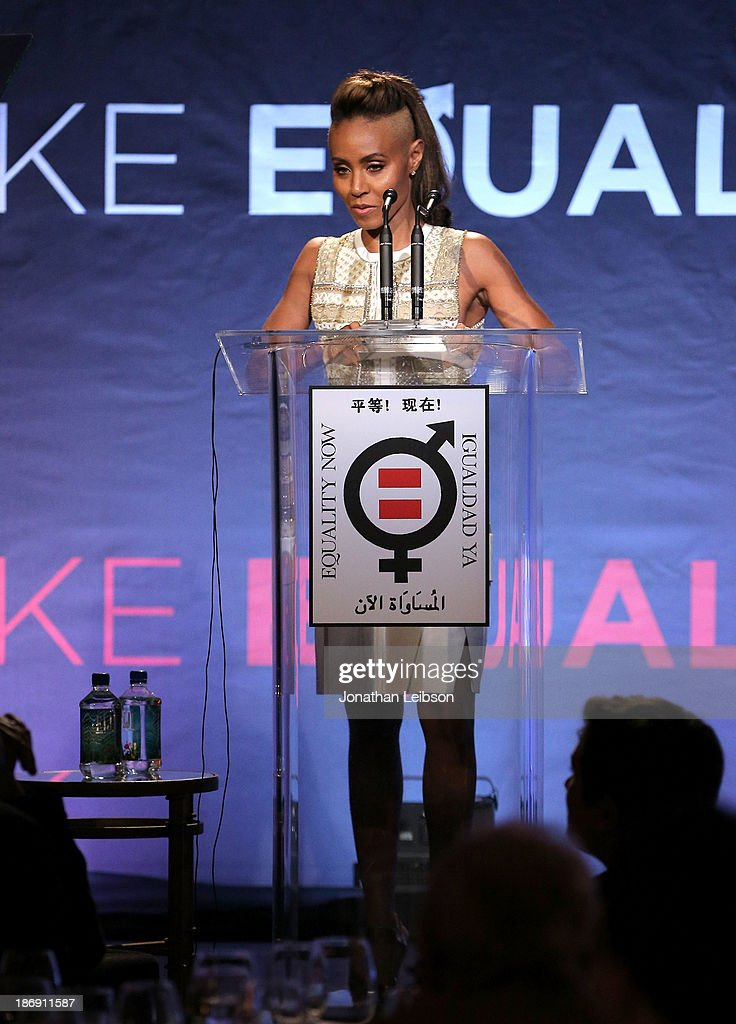 Actress <a gi-track='captionPersonalityLinkClicked' href=/galleries/search?phrase=Jada+Pinkett+Smith&family=editorial&specificpeople=201837 ng-click='$event.stopPropagation()'>Jada Pinkett Smith</a> speaks onstage during Equality Now presents 'Make Equality Reality' at Montage Hotel on November 4, 2013 in Los Angeles, California.