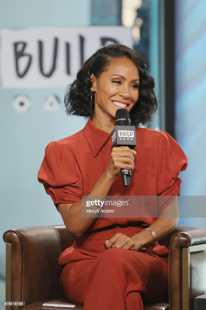 Actress Jada Pinkett Smith visits Build to discuss the film 'Girls Trip' at Build Studio on July 17, 2017 in New York City.