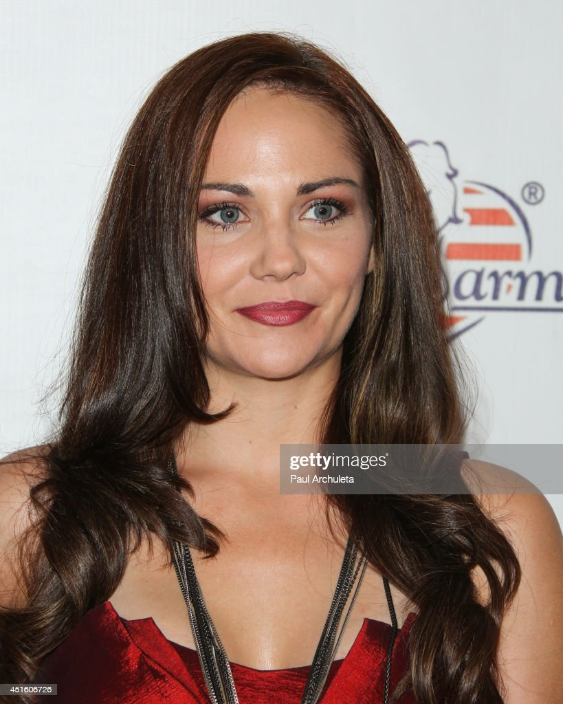 Actress Jade Harlow attends the annual Stars & Stripes charity event hosted by Children Of The Night and BenchWarmer's on July 1, 2014 in Los Angeles, California.