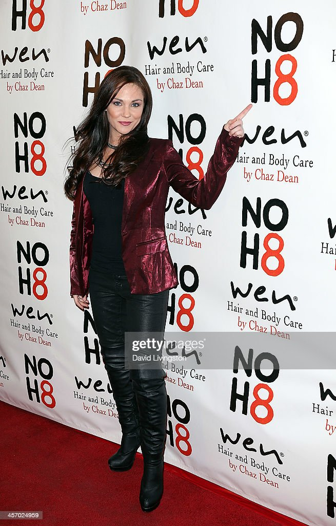 Actress Jade Harlow attends the NOH8 Campaign 5th Anniversary Celebration at Avalon on December 15, 2013 in Hollywood, California.