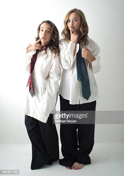 Actress Jade Mars and Actress Johnny Sequoyah pose at Elemental Superfood Hosts The Starving Artists Project Portraits on October 22 2014 in Los...