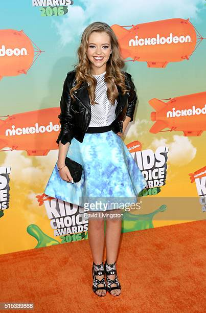 Actress Jade Pettyjohn attends Nickelodeon's 2016 Kids' Choice Awards at The Forum on March 12 2016 in Inglewood California