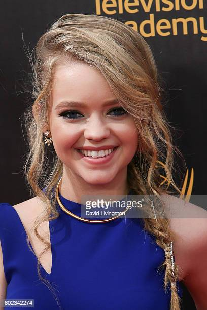 Actress Jade Pettyjohn attends the 2016 Creative Arts Emmy Awards Day 1 at the Microsoft Theater on September 10 2016 in Los Angeles California