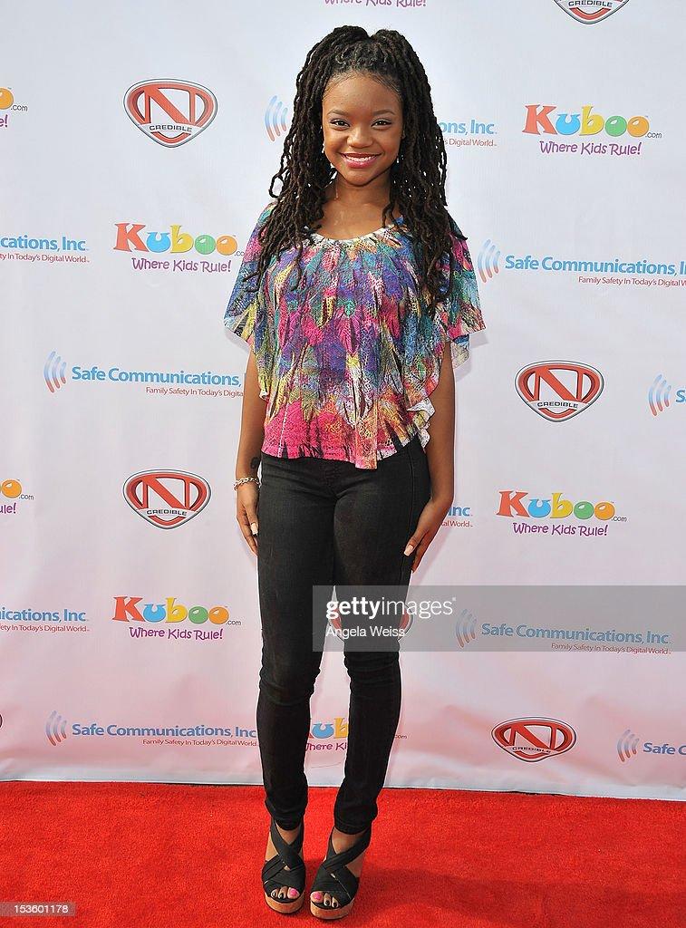 Actress Jaida-Iman Benjamin arrives at 'Family Day' hosted by Nick Cannon at Santa Monica Pier on October 6, 2012 in Santa Monica, California.