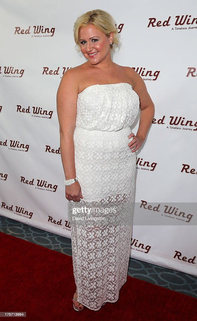 Actress Jaime Gallagher attends a screening of Integrity Film Production's 'Red Wing' at Harmony Gold Theatre on August 6, 2013 in Los Angeles, California.