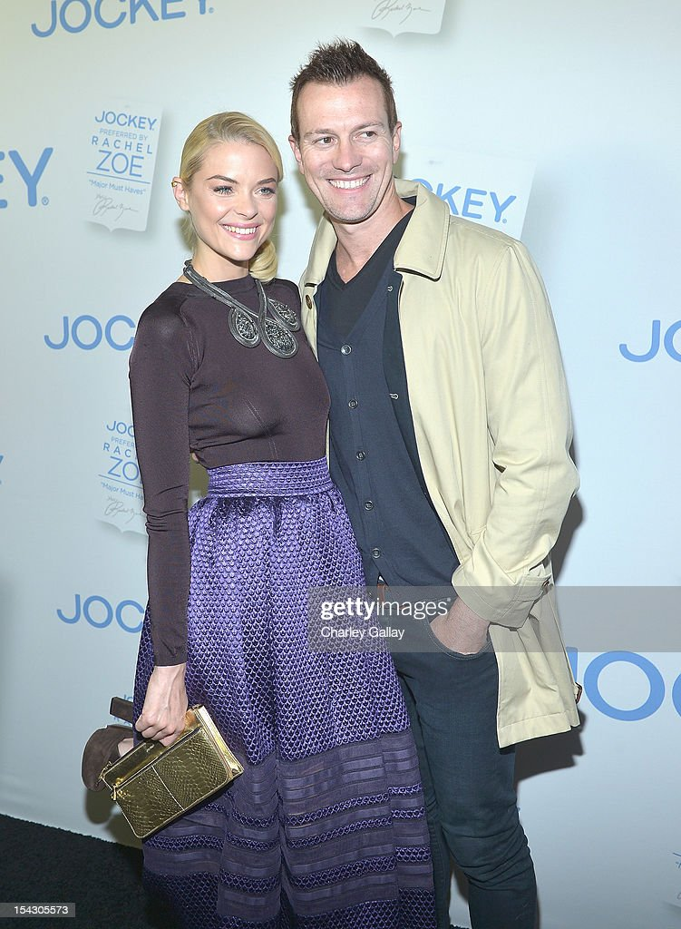 Actress Jaime King (L) and director Kyle Newman celebrate the launch of Rachel ZoeÕs ÒMajor Must HavesÓ from Jockey at Sunset Tower on October 17, 2012 in West Hollywood, California.