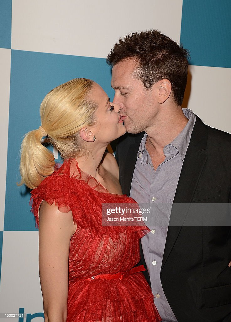 Actress <a gi-track='captionPersonalityLinkClicked' href=/galleries/search?phrase=Jaime+King+-+Actrice&family=editorial&specificpeople=206809 ng-click='$event.stopPropagation()'>Jaime King</a> and husband Kyle Newman attend the 11th annual InStyle summer soiree held at The London Hotel on August 8, 2012 in West Hollywood, California.