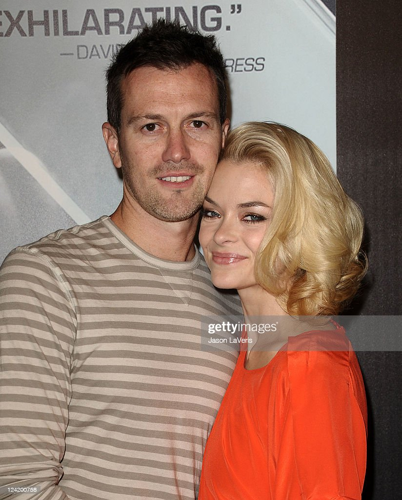 Actress <a gi-track='captionPersonalityLinkClicked' href=/galleries/search?phrase=Jaime+King+-+Actress&family=editorial&specificpeople=206809 ng-click='$event.stopPropagation()'>Jaime King</a> (R) and husband Kyle Newman attend the 'X-Men: First Class' 3D projection party at The Roosevelt Hotel on September 8, 2011 in Hollywood, California.
