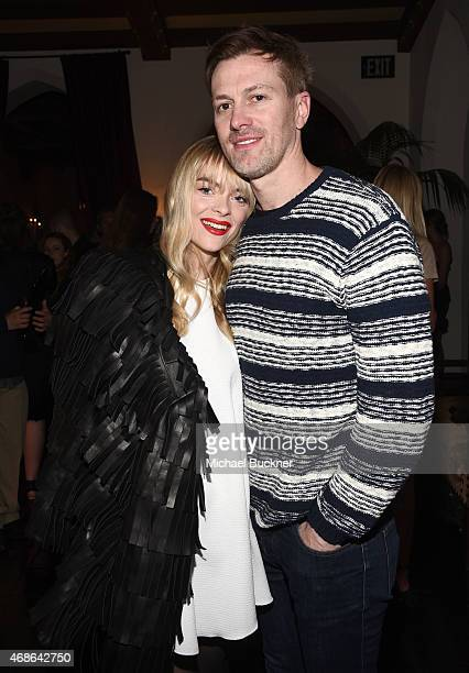Actress Jaime King and Kyle Newman attend the Variety and Formula E Hollywood Gala at Chateau Marmont on April 4 2015 in Los Angeles California