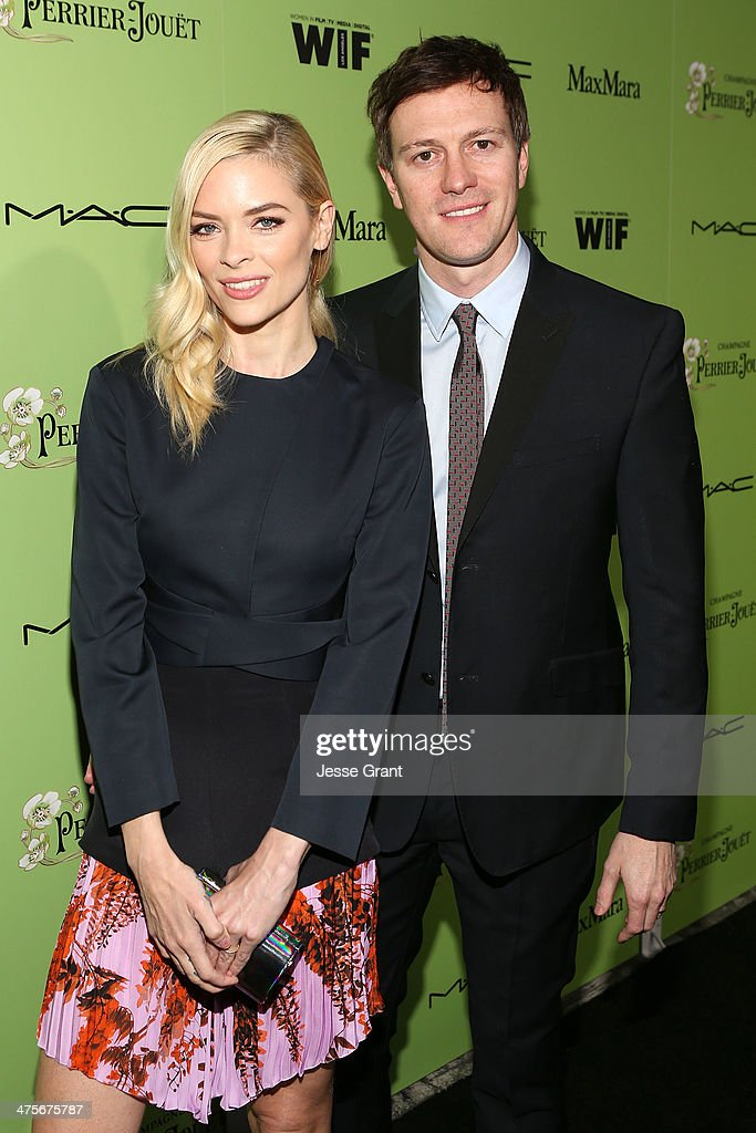 Actress <a gi-track='captionPersonalityLinkClicked' href=/galleries/search?phrase=Jaime+King+-+Actress&family=editorial&specificpeople=206809 ng-click='$event.stopPropagation()'>Jaime King</a> (L) and Kyle Newman attend the Women In Film Pre-Oscar Cocktail Party presented by Perrier-Jouet, MAC Cosmetics & MaxMara at Fig & Olive Melrose Place on February 28, 2014 in West Hollywood, California.