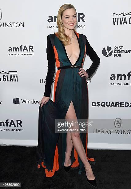 Actress Jaime King arrives at amfAR's Inspiration Gala Los Angeles at Milk Studios on October 29 2015 in Hollywood California