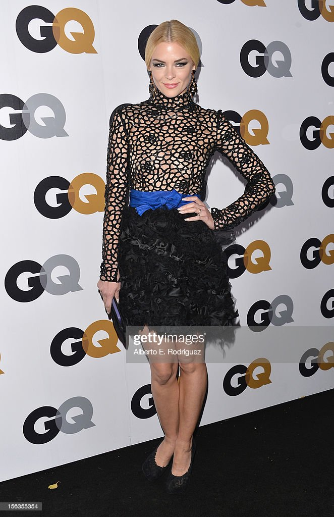 Actress <a gi-track='captionPersonalityLinkClicked' href=/galleries/search?phrase=Jaime+King+-+Actrice&family=editorial&specificpeople=206809 ng-click='$event.stopPropagation()'>Jaime King</a> arrives at the GQ Men of the Year Party at Chateau Marmont on November 13, 2012 in Los Angeles, California.
