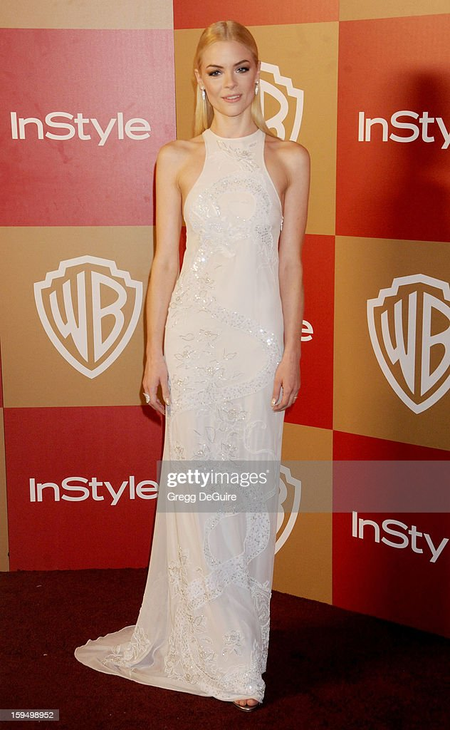 Actress Jaime King arrives at the InStyle and Warner Bros. Golden Globe party at The Beverly Hilton Hotel on January 13, 2013 in Beverly Hills, California.