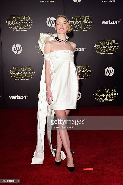 Actress Jaime King arrives at the Premiere Of Walt Disney Pictures And Lucasfilm's 'Star Wars The Force Awakens' on December 14 2015 in Hollywood...
