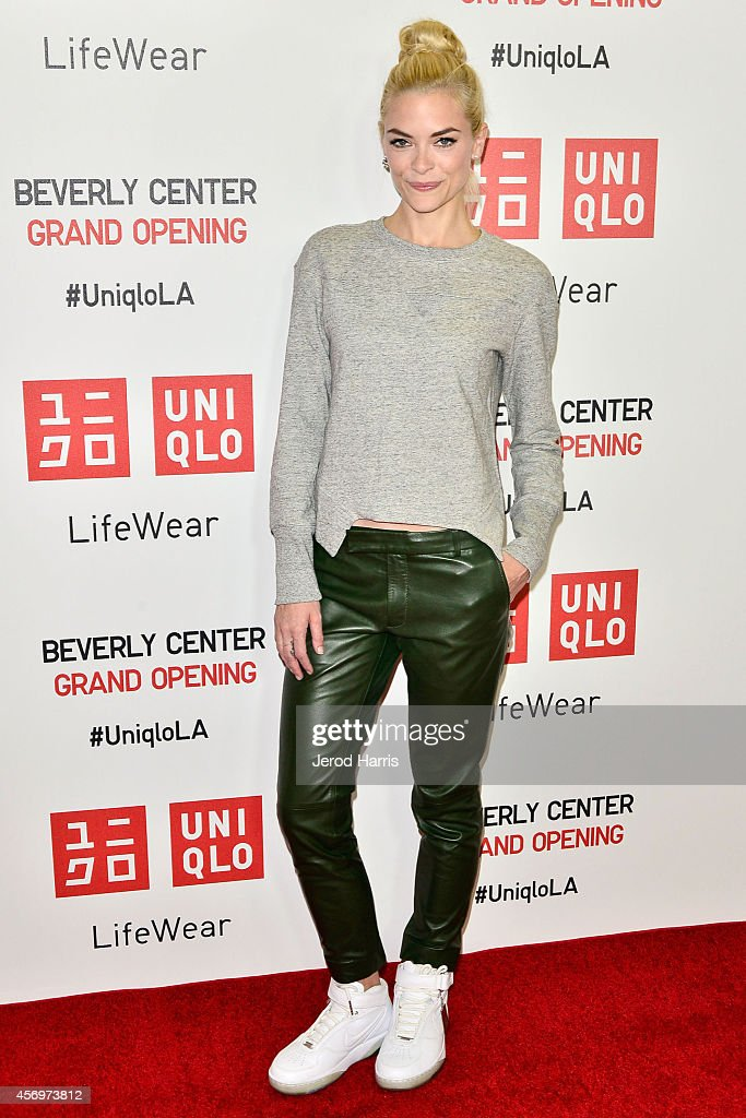 Actress Jaime King arrives at the UNIQLO grand opening at the Beverly Center on October 9 2014 in Los Angeles California