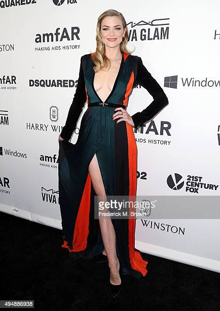Actress Jaime King attends amfAR's Inspiration Gala Los Angeles at Milk Studios on October 29 2015 in Hollywood California