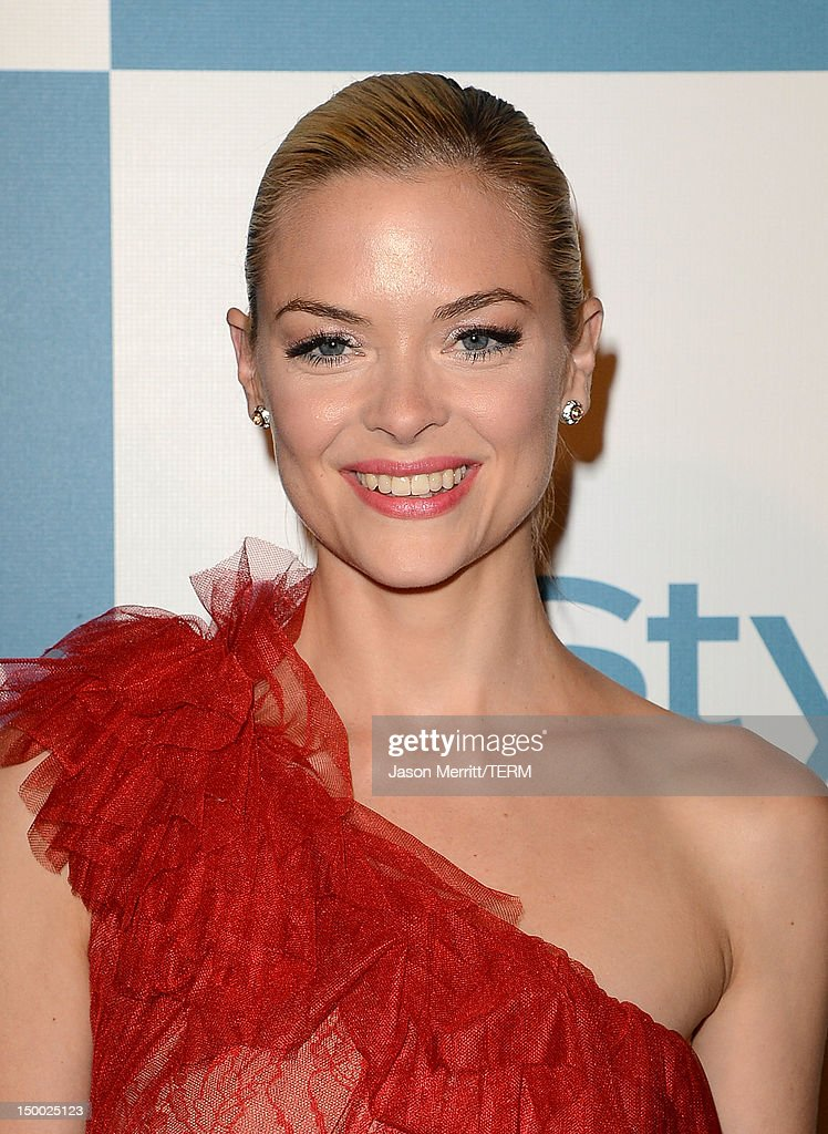 Actress <a gi-track='captionPersonalityLinkClicked' href=/galleries/search?phrase=Jaime+King+-+Actrice&family=editorial&specificpeople=206809 ng-click='$event.stopPropagation()'>Jaime King</a> attends the 11th annual InStyle summer soiree held at The London Hotel on August 8, 2012 in West Hollywood, California.