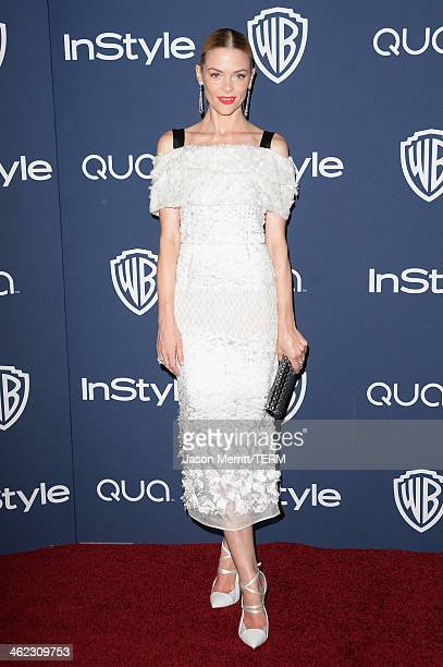 Actress Jaime King attends the 2014 InStyle and Warner Bros 71st Annual Golden Globe Awards PostParty on January 12 2014 in Beverly Hills California