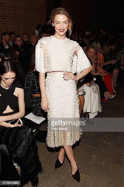 Actress Jaime King attends the Christian Siriano Fall 2016 fashion show during New York Fashion Week at ArtBeam on February 13 2016 in New York City