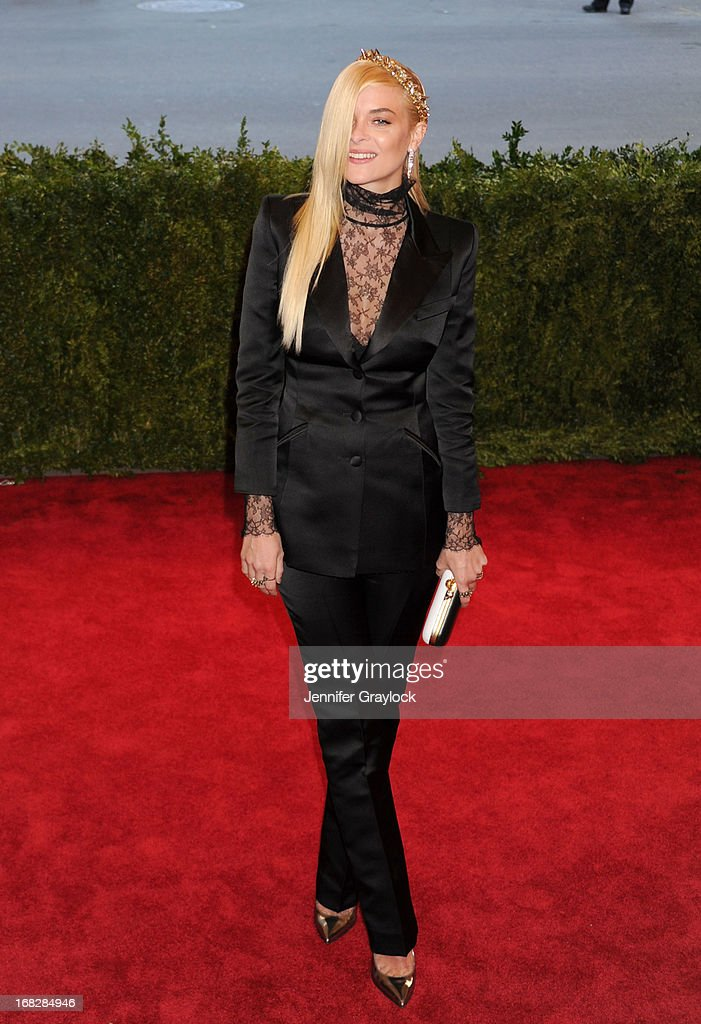 Actress Jaime King attends the Costume Institute Gala for the 'PUNK: Chaos to Couture' exhibition at the Metropolitan Museum of Art on May 6, 2013 in New York City.