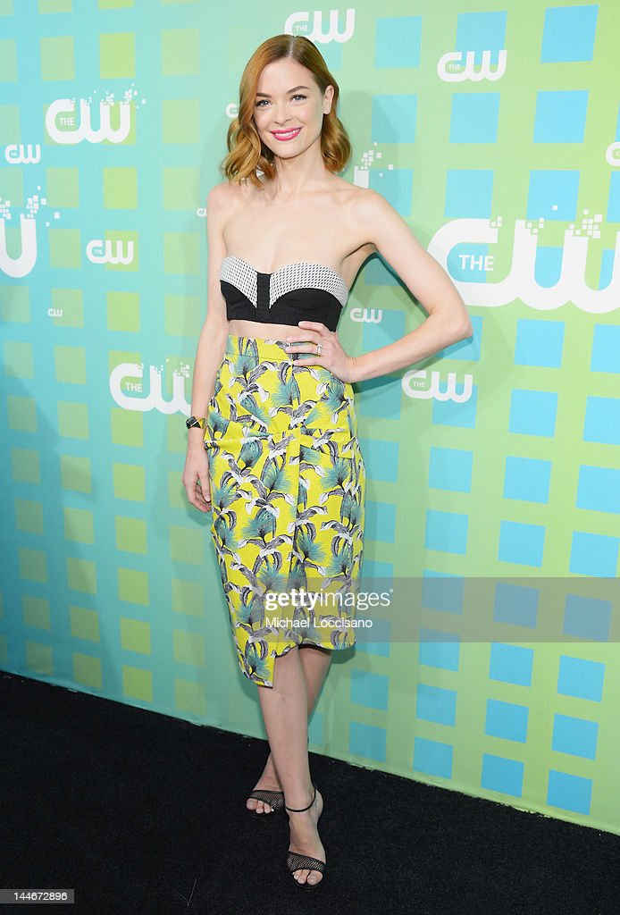 Actress <a gi-track='captionPersonalityLinkClicked' href=/galleries/search?phrase=Jaime+King+-+Actress&family=editorial&specificpeople=206809 ng-click='$event.stopPropagation()'>Jaime King</a> attends The CW Network's New York 2012 Upfront at New York City Center on May 17, 2012 in New York City.