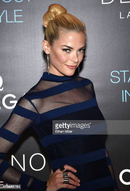 Actress Jaime King attends the Delano Las Vegas grand opening party with Jaime King Charlotte Ronson Sam Ronson and MAGIC at Delano Las Vegas at the...