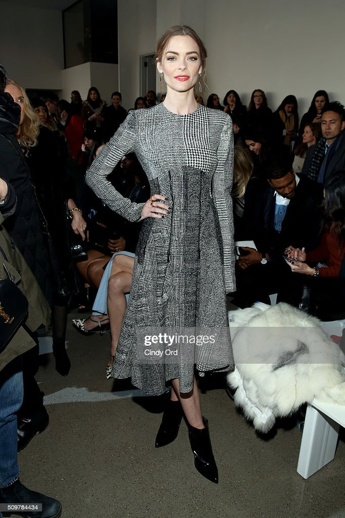Actress Jamie King attends the Jason Wu Fall 2016 fashion show during New York Fashion Week at Spring Studios on February 12, 2016 in New York City.