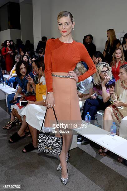 Actress Jaime King attends the Jason Wu fashion show during Spring 2016 New York Fashion Week at Spring Studios on September 11 2015 in New York City