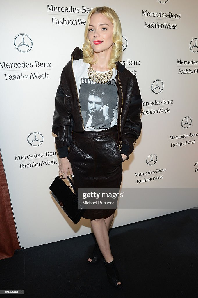 Actress <a gi-track='captionPersonalityLinkClicked' href=/galleries/search?phrase=Jaime+King+-+Actress&family=editorial&specificpeople=206809 ng-click='$event.stopPropagation()'>Jaime King</a> attends the Mercedes-Benz Star Lounge during Mercedes-Benz Fashion Week Fall 2013 at Lincoln Center on February 8, 2013 in New York City.
