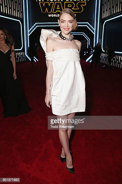 Actress Jaime King attends the Premiere of Walt Disney Pictures and Lucasfilm's 'Star Wars The Force Awakens' on December 14 2015 in Hollywood...