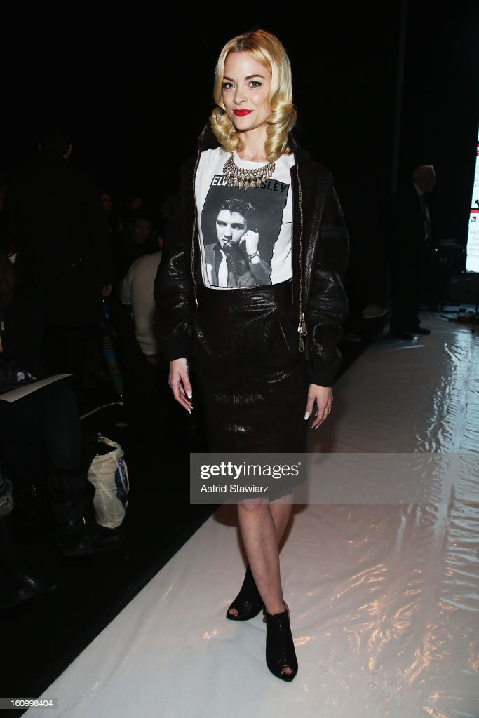 Actress Jaime King attends the Rebecca Minkoff Fall 2013 fashion show with TRESemme during Mercedes-Benz Fashion Week at The Theatre at Lincoln Center on February 8, 2013 in New York City.