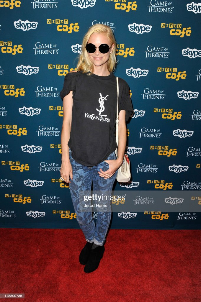 Actress <a gi-track='captionPersonalityLinkClicked' href=/galleries/search?phrase=Jaime+King+-+Actress&family=editorial&specificpeople=206809 ng-click='$event.stopPropagation()'>Jaime King</a> attends WIRED Cafe At Comic-Con held at Palm Terrace at the Omni Hotel on July 13, 2012 in San Diego, California.