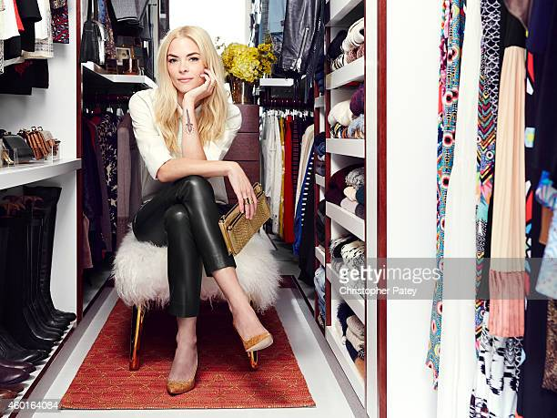Actress Jaime King is photographed in her home and bedroom closet giving a fashion tour for Domaine Home on October 9 2014 in Los Angeles California