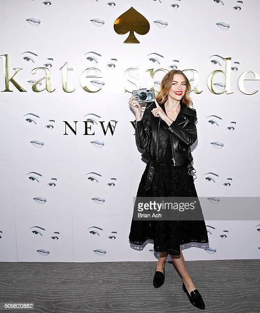 Actress Jaime King is seen at the Kate Spade New York presentation during Fall 2016 New York Fashion Week at The Rainbow Room on February 12 2016 in...