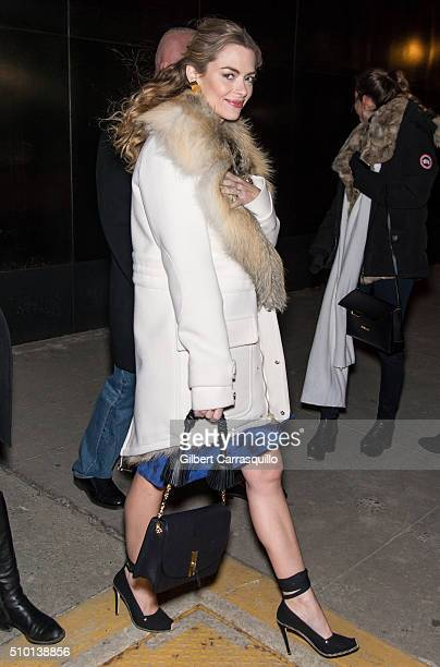 Actress Jaime King is seen outside the Altuzarra Fall 2016 fashion show during New York Fashion Week at Spring Studios on February 13 2016 in New...