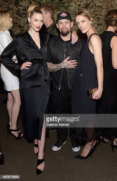 Actress Jaime King musician Joel Madden and Executive Creative Director The Line Vanessa Traina attend The Apartment by The Line LA opening on...