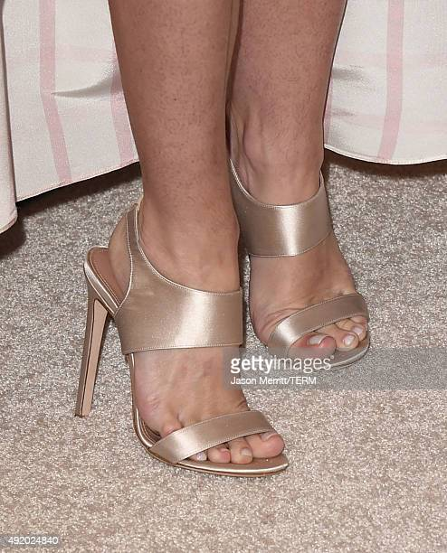 Actress Jaime King shoe detail attends Variety's Power Of Women Luncheon at the Beverly Wilshire Four Seasons Hotel on October 9 2015 in Beverly...