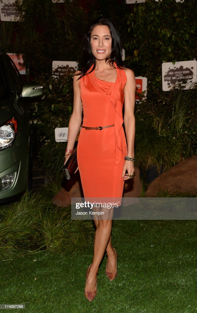Actress Jaime Murray attends 'The Walking Dead' 10th Anniversary Celebration Event during ComicCon 2013 on July 19 2013 in San Diego California
