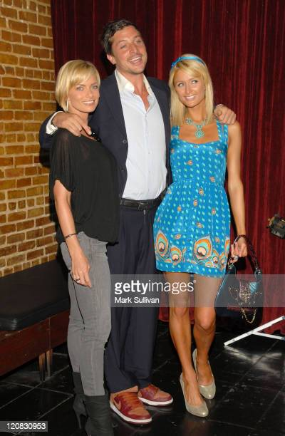 Actress Jaime Pressly actor Simon Rex and actress Paris Hilton arrive at the Los Angeles premiere of a new TV pilot 'Rex' at Cinespace on June 8 2009...