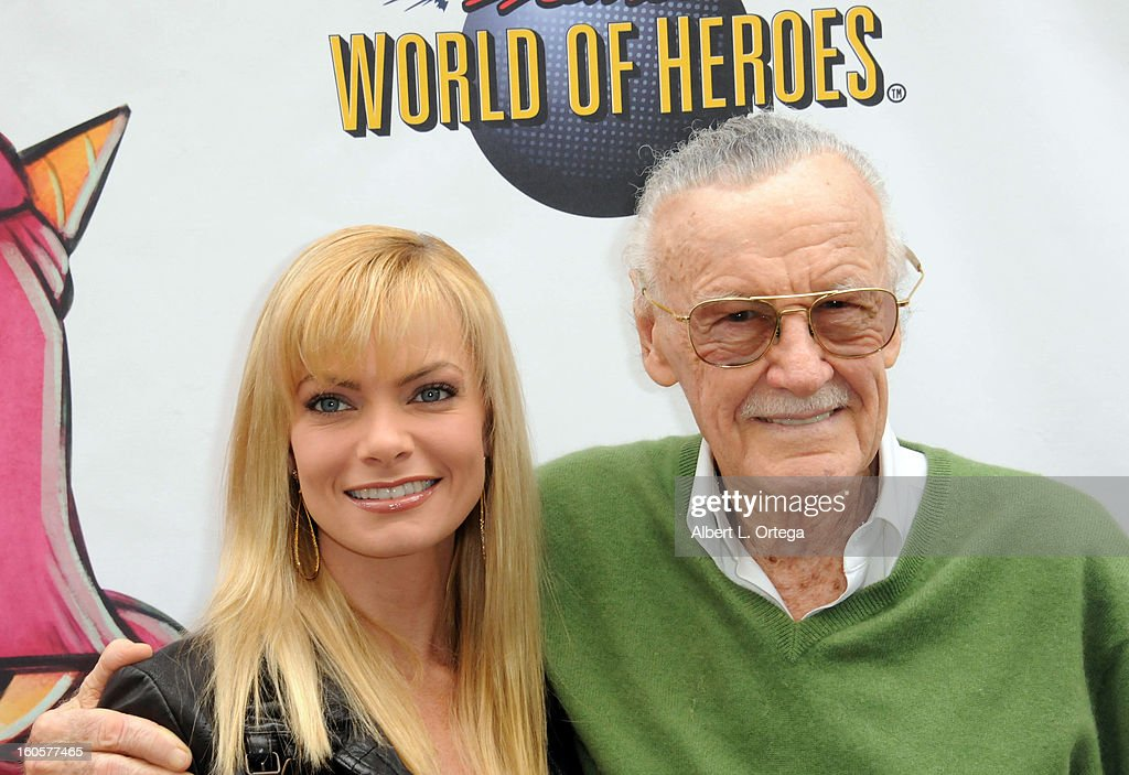 Actress <a gi-track='captionPersonalityLinkClicked' href=/galleries/search?phrase=Jaime+Pressly&family=editorial&specificpeople=211226 ng-click='$event.stopPropagation()'>Jaime Pressly</a> and comic book icon <a gi-track='captionPersonalityLinkClicked' href=/galleries/search?phrase=Stan+Lee&family=editorial&specificpeople=206380 ng-click='$event.stopPropagation()'>Stan Lee</a> host the <a gi-track='captionPersonalityLinkClicked' href=/galleries/search?phrase=Stan+Lee&family=editorial&specificpeople=206380 ng-click='$event.stopPropagation()'>Stan Lee</a> Children Book Label 'Kids Universe Day' Unveiling held at Giggles 'N' Hugs on February 2, 2013 in Century City, California.